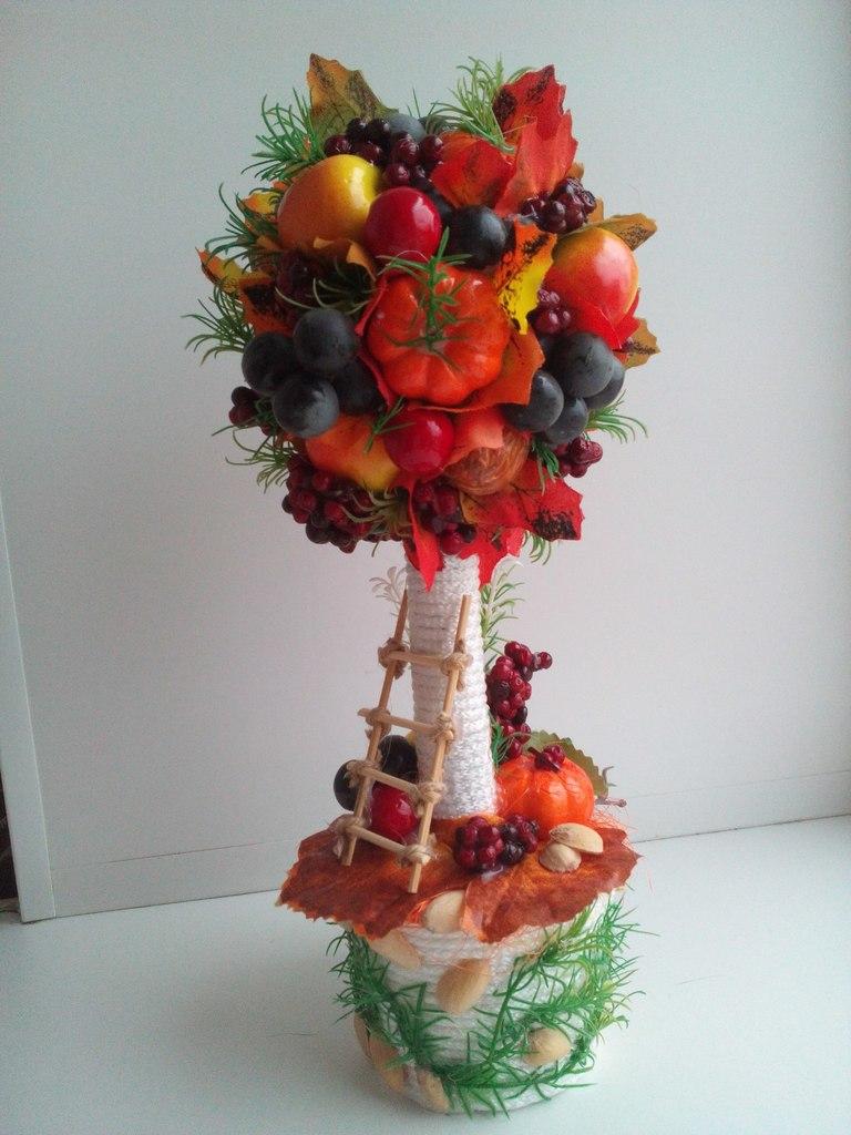 Осенний топиарий своими руками фото 75