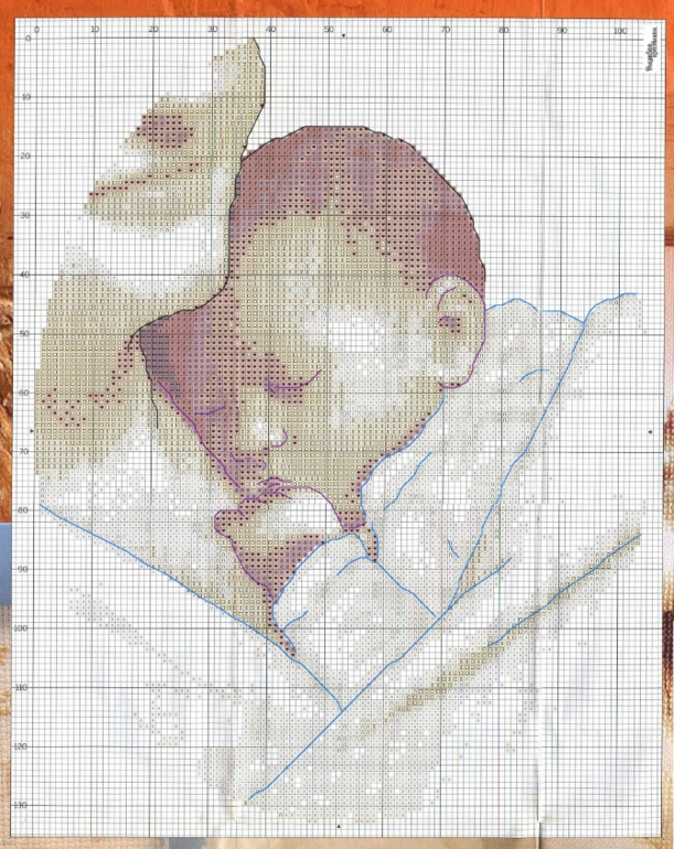 Схемы для вышивки крестом мама с малышом