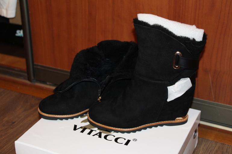 Зимние ботильоны Vitacci, 37 размер, новые!