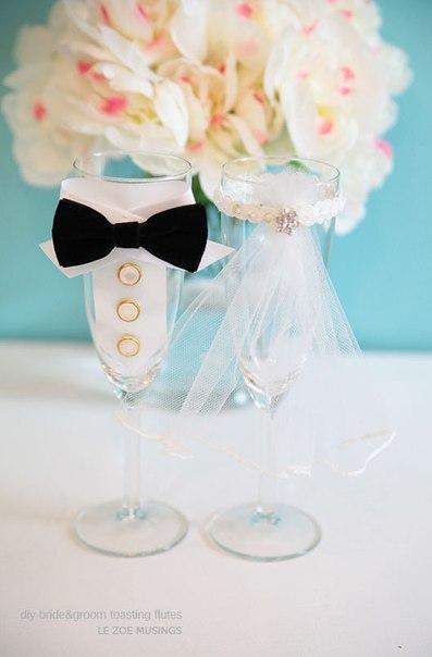 Бокалы для невесты и жениха