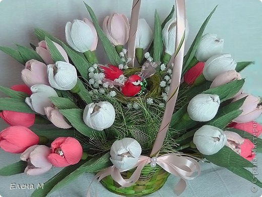 Цветы тюльпаны из гофрированной бумаги своими руками - Ve-sim.ru