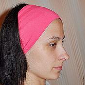 Широкая повязка на голову летняя 18