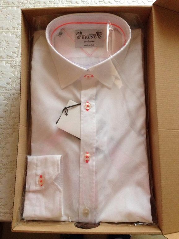 Рубашка мужская ROBERTO BRUNO, размер 39