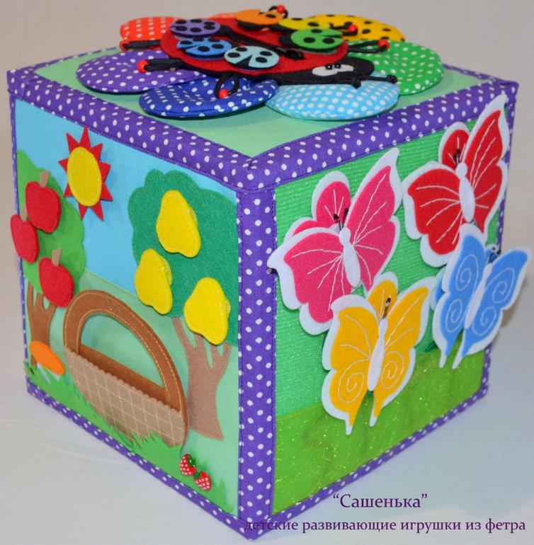 Как своими руками сшить развивающий кубик