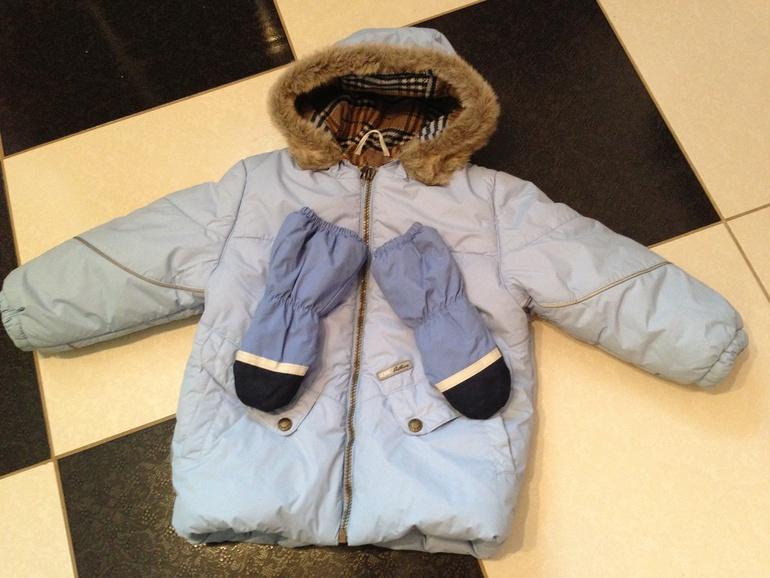 Куртка  98р  ленне  330  +  краги  разм  1
