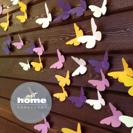 Бумажные бабочки для декора свадьбы