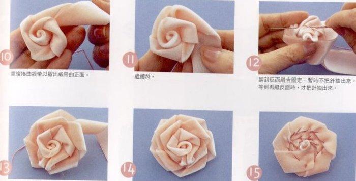 Как сделать цветы из ткани на платье своими руками