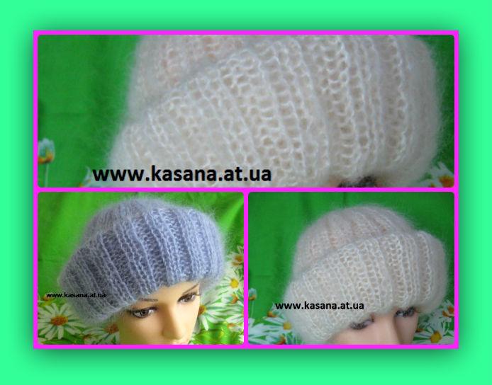 Модели шапок для вязания из мохера