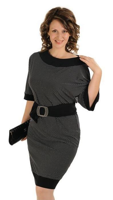 Трикотажное платье для полной женщины своими руками