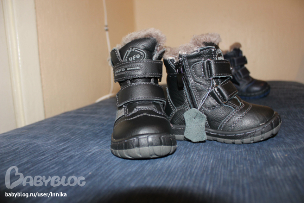 Новые кожаные ботинки на искусственном меху