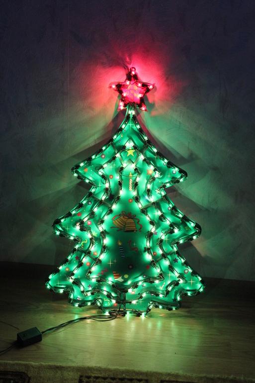 Электрогирлянды панно новогодние в наличии, украшения на окна и стены