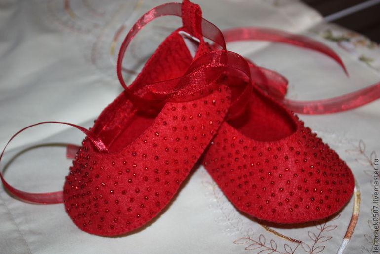 Туфельки для малышки своими руками 95