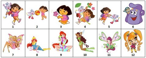Картинки на шкафчик для ребенка в детском саду