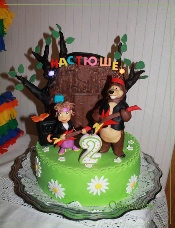 торты на день рождения фото маша и медведь