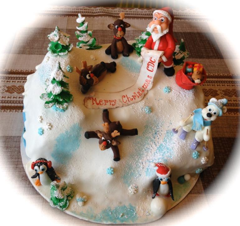 Новогодний тортик, как всегда для сотрудников мужа