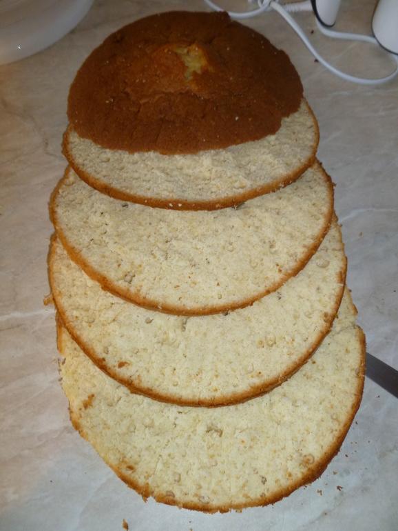 как ровно разделить бисквит на коржи Ваша главная