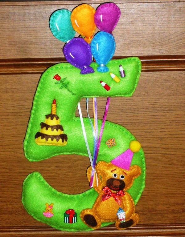 Цифры для дня рождения из фетра своими руками 75
