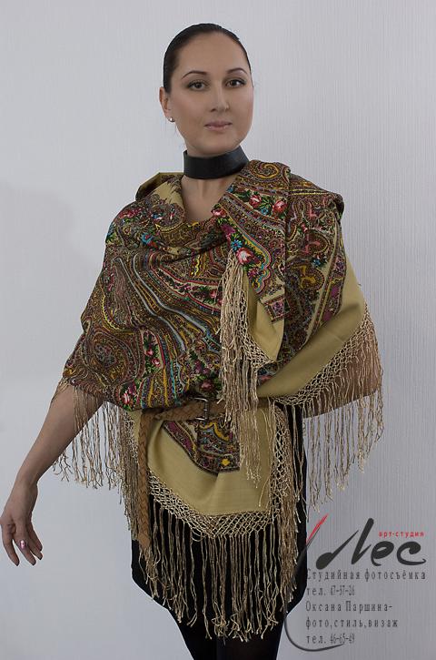 как носить павловопосадский платок современно