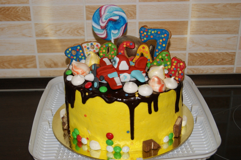Украсить торт в домашних условиях для ребенка 1 504