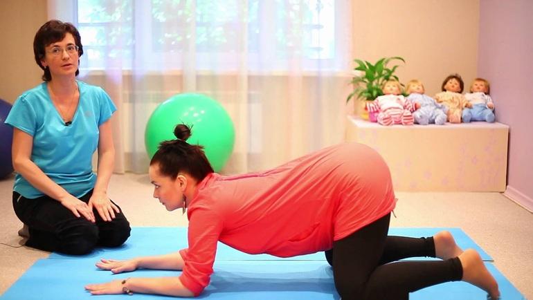 Гимнастика для беременных коленно-локтевая 69