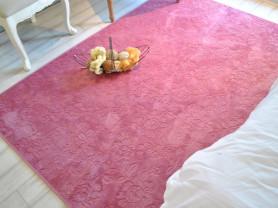 Розовый ковер с узором Burnout 100 x 150 см