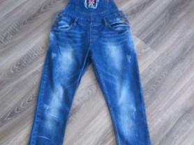 Почти новый модный джинсовый комбинезон р-р 27-30