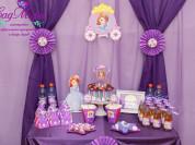 Оформление кэнди бара в стиле Принцесса София.