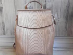 Новый кожаный рюкзак под рептилию Шампань