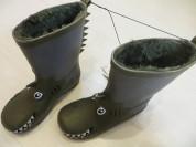 КИАБИ-сапоги резиновые утепленные-30 и 34 размер