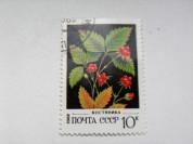 Марка 10к 1982 год СССР Костяника