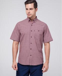 Практичная рубашка мужская Rolayt бордовая