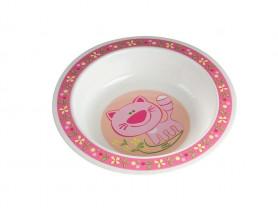 Тарелка Canpol пластиковая, цвет: розовый