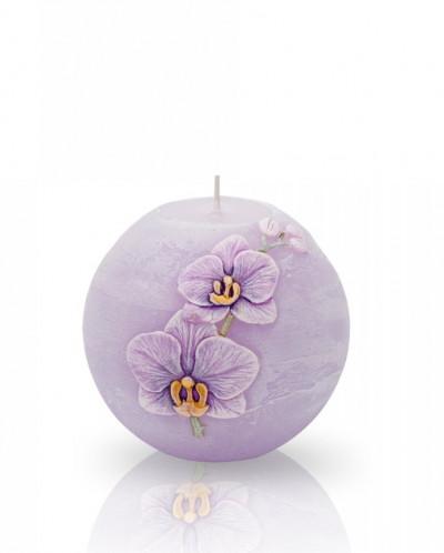 свеча Орхидея Шар 100мм