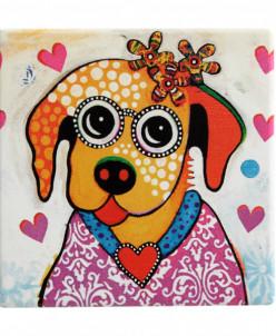 Подставка керамическая Весёлый щенок без инд.упаковки Maxwel