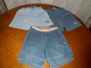 Трикотажные и джинсовые шорты мальчику 1-3 лет