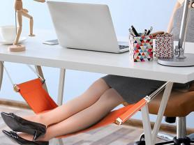 Гамак для ног под рабочим столом