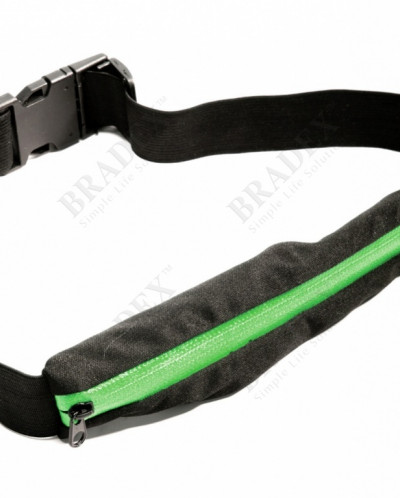 Ремень-кошелек эластичный, цвет зеленый (PUSH POCKET BELT, g