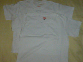 футболки (пара) Hanes 100% хлопок, на 4-5лет