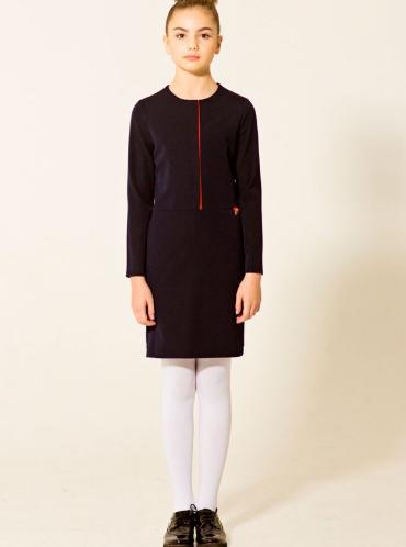 Платье с декоративной складкой