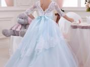 новые детские платья в пол. пышные детские платья