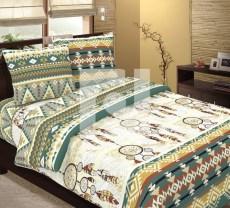 КПБ 1,5 спальный из бязи Стандарт Ловец снов