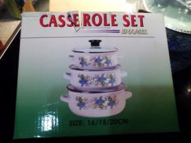 Новый набор из 3 кастрюль enamel casserole set