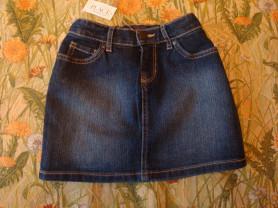 Новая джинсовая юбка 6/7 лет.