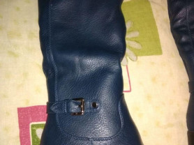 Новые зимние сапоги р.36, тёмной синий цвет... Ест