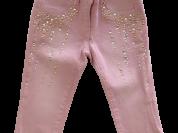 Розовые джинсы со стразами Microbe by Miss Grant