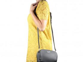 Новая черная сумка кроссбоди Италия кожа