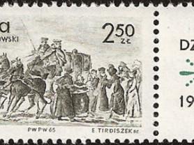 Марка 2.50zt 1965 год Польша