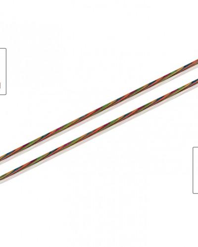 Спицы прямые 40см 10,0мм  Simfonie (разноцветное дерево)