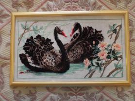 Картина Верность Лебеди вышивка крестом