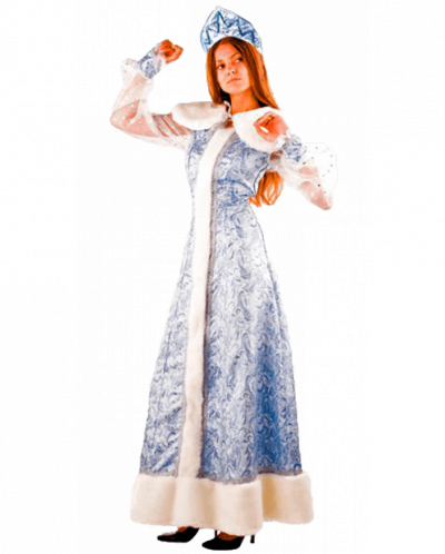 Карнавальный костюм Снегурочка шелк (д/взр)